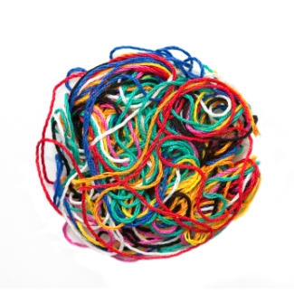 ball of tangled thread